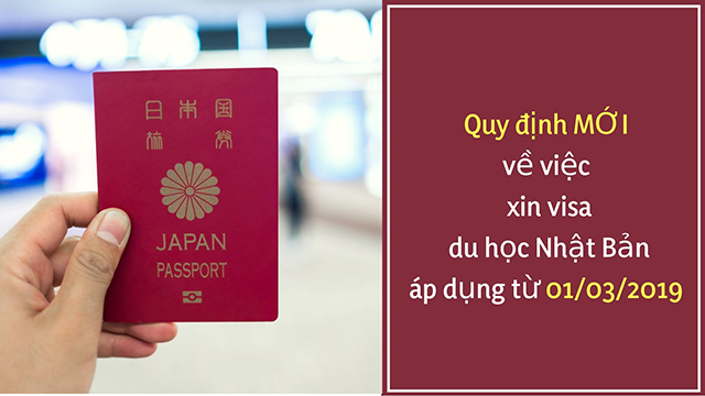 Quy định về visa du học Nhật