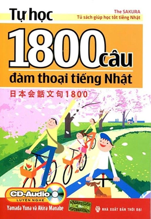 Sách tự học 1800 câu đàm thoại tiếng Nhật